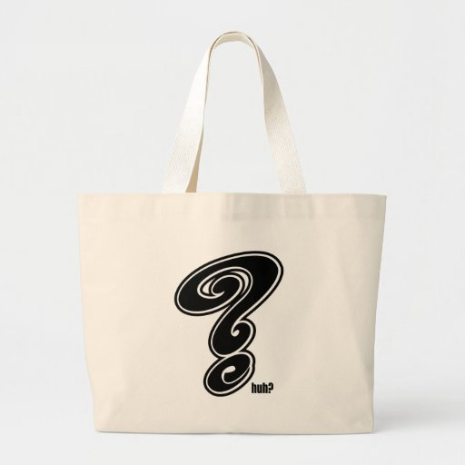Question Mark Canvas Bags