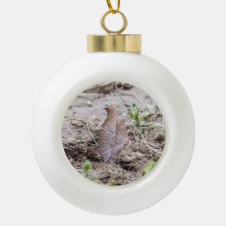 Question Mark Ceramic Ball Christmas Ornament