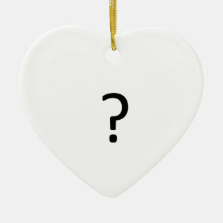 Question Mark Ceramic Ornament