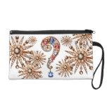 Question Mark Diamonds Vintage Costume Jewelry Bag Wristlet Purse