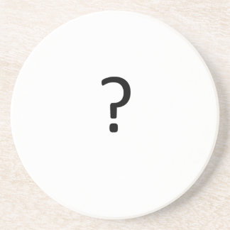 Question Mark Drink Coaster