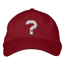 question mark embroidered baseball cap