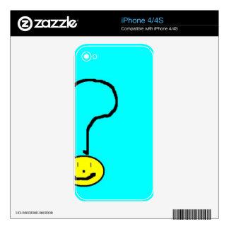 question mark emoji, digital art by kids :) skin for the iPhone 4