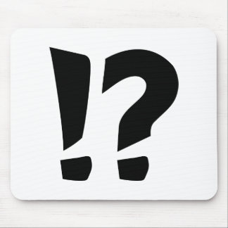 Question mark exclamation point mouse pad
