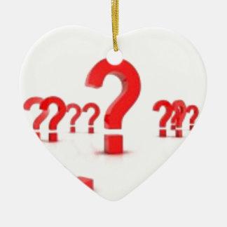 Question mark help ceramic ornament