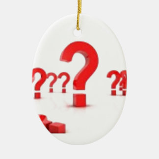 Question mark help Double-Sided oval ceramic christmas ornament