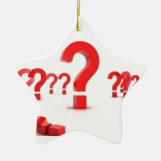 Question mark help Double-Sided star ceramic christmas ornament