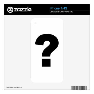 Question mark iPhone 4 skin