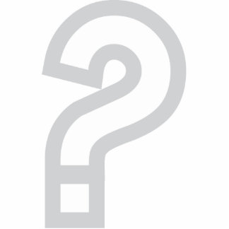 Question Mark Key Chain Photo Sculpture Keychain