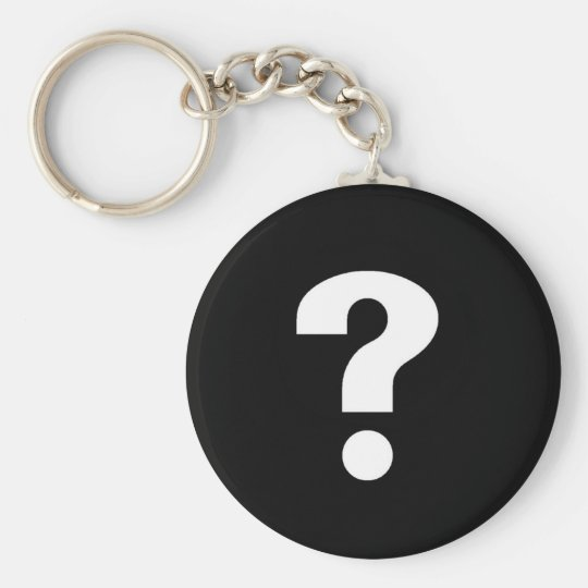 QUESTION MARK KEYCHAIN