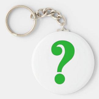 Question mark keychain