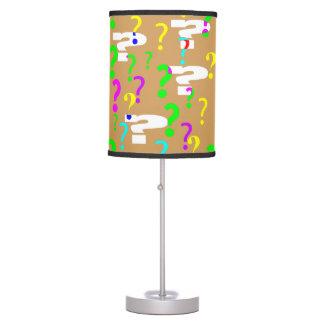 Question Mark Lamp