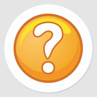 question_mark_naught101_01 classic round sticker