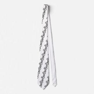 Question mark neck tie