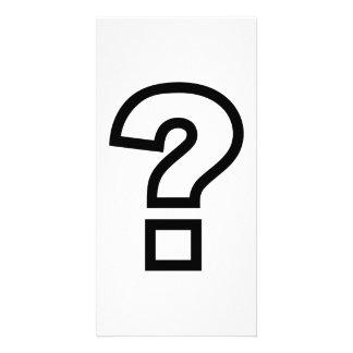 Question mark photo card