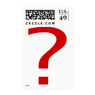 Question Mark Postage Stamps