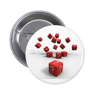 question mark red dice buttons
