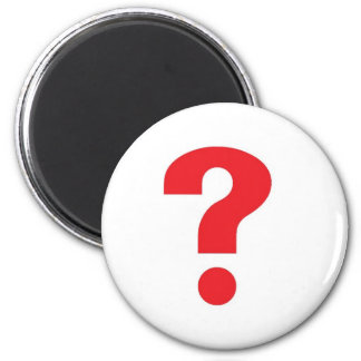 question mark red magnet