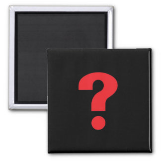 question mark red on black magnet
