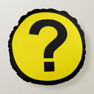 Question Mark Round Pillow