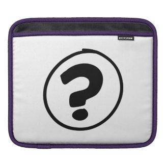 Question Mark Sign iPad Sleeve