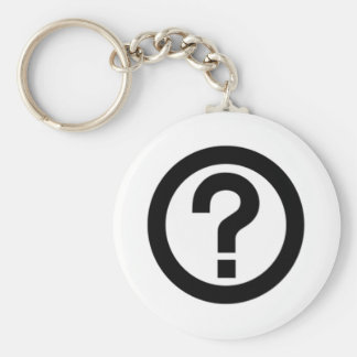 Question Mark Sign Keychain