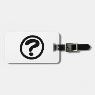 Question Mark Sign Tag For Luggage