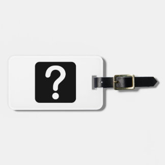 Question Mark Sign Tag For Bags