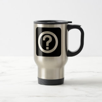 Question Mark Sign 15 Oz Stainless Steel Travel Mug