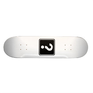 Question Mark Sign Skateboard