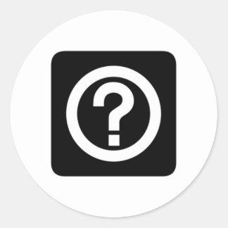 Question Mark Sign Sticker