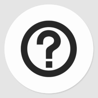 Question Mark Sign Round Stickers