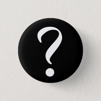 Question Mark Sign Symbol Small Round Button Pin