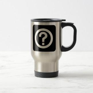Question Mark Sign Travel Mug