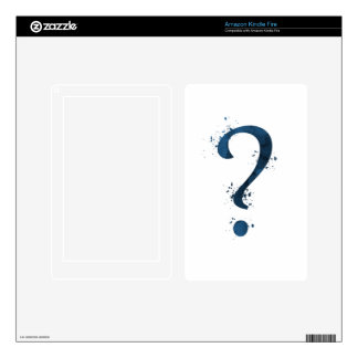 Question mark skin for kindle fire