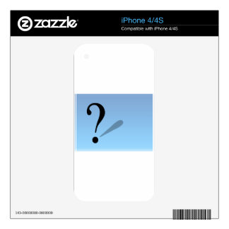 question-mark- skins for iPhone 4S
