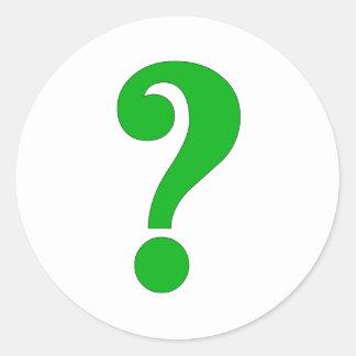 Question mark round sticker