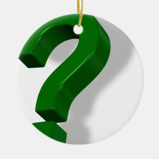 question mark symbol Double-Sided ceramic round christmas ornament