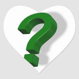 question mark symbol heart sticker