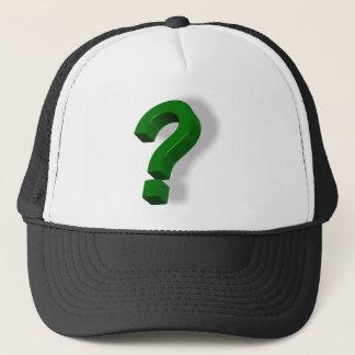 question mark symbol trucker hat