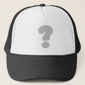 question mark ? trucker hat