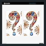 """Question Mark Vintage Costume Jewelry Kindle Fire Skin For Kindle Fire<br><div class=""""desc"""">, </div>"""