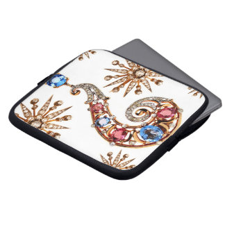 Question Mark Vintage Costume Jewelry Sleeve Laptop Computer Sleeve