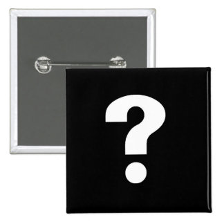 question mark white on black pin