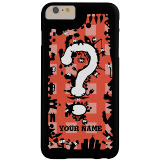 Question Mark with Cartoon Greeblies Barely There iPhone 6 Plus Case