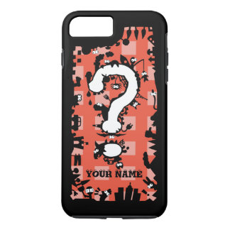 Question Mark with Cartoon Greeblies iPhone 7 Plus Case
