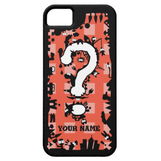 Question Mark with Cartoon Greeblies iPhone SE/5/5s Case
