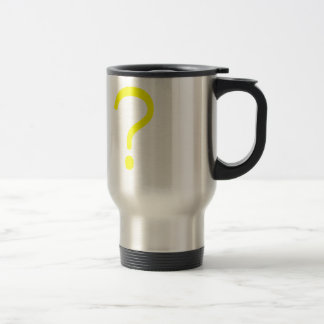 Question Mark? Yellow Green Pink 15 Oz Stainless Steel Travel Mug