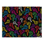 Question Marks 4.25x5.5 Paper Invitation Card