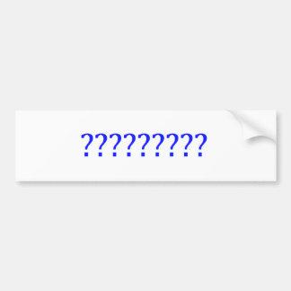 Question Marks Car Bumper Sticker